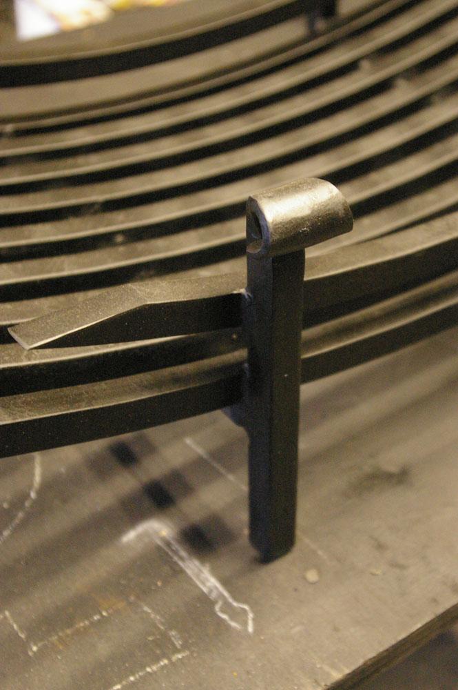 \'Curve\' firebasket detail